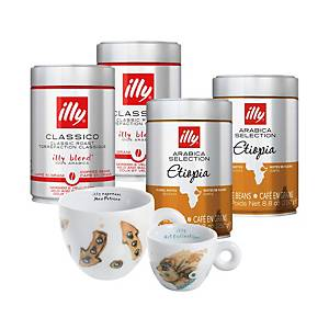 illy Decorated Coffee Set