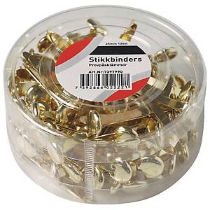 Splittbinders, 25 mm, eske à 100 stk.