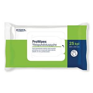 Prowipes yleispuhdistuspyyhe, 1 kpl=25 pyyhettä