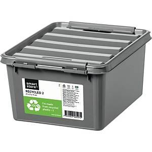Opbevaringskasse SmartStore Recycled 2, genbrugsplast, 21 x 17 x 11 cm, grå