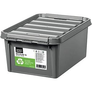 Opbevaringskasse SmartStore Recycled 10, genbrugsplast, 34 x 25 x 16 cm, grå