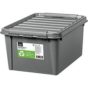 Opbevaringskasse SmartStore Recycled 31, 50 x 39 x 26 cm, 32 L, grå