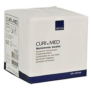 Curi-Med kuitutaitos tehdaspuhdas 10x10cm, 1 kpl=100 taitosta