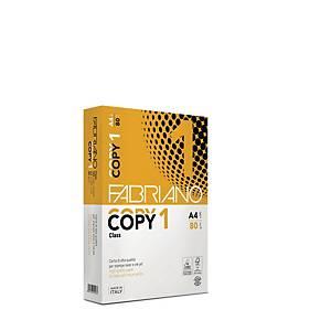 Carta bianca Fabriano Copy 1 A4 80 g/mq - risma 500 fogli