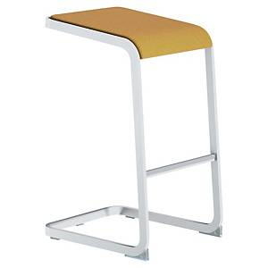 QUADRIFOGLIO C-STOOL WHITE/YELLOW
