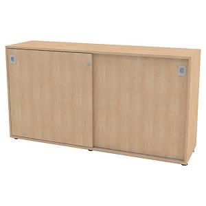 Armoire portes coulissantes Quadrifoglio Pegasus - 86 x 160 cm - chêne