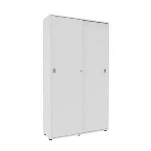 Armoire portes coulissantes Quadrifoglio Pegasus - 214 x 120 cm - Blanc