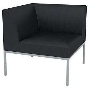 Canapé modulable Quadrifoglio Bilbao - module d angle - tissu -noir