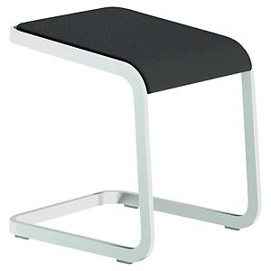 QUADRIFOGLIO C-STOOL WHITE/BLACK