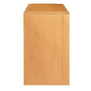 Akte-envelop, gomsluiting, bruine kraft 90 g, 185 x 280 mm, per 500 zakomslagen