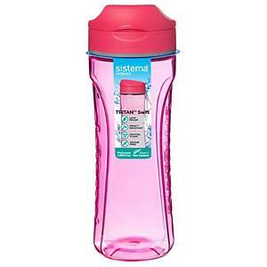 Sistema Tritan Water Bottle 600ml Pink