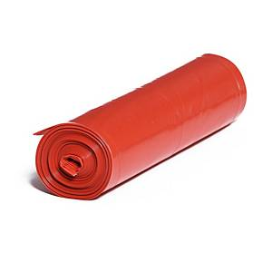 Pytle na odpad, 250l, 50 µm, červené, 25 ks