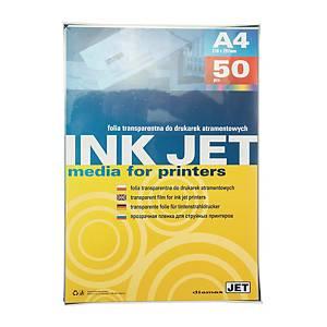 Folia do drukarek atramentowych ARGO 413025, transparentna, 50 arkuszy