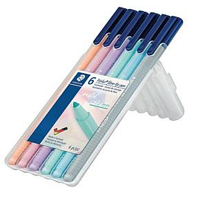 Staedtler 323SB6PA triplus kuitukärkikynä 1 mm värilajitelma 1 kpl=6 kynää