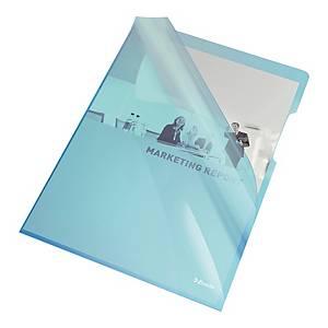 Ofertówka ESSELTE sztywna niebieska, w opakowaniu 25 sztuk
