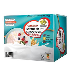 Aik Cheong Instant Fruits Otameal Cereal - Box of 10