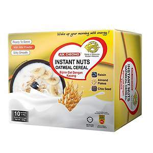 Aik Cheong Instant Nuts Oatmeal Cereal - Box of 10 x 40g