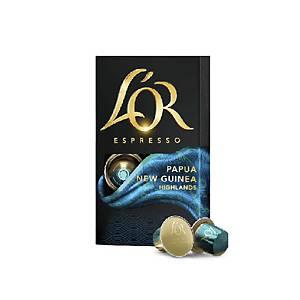 Pack de 10 cápsulas de café L Or - Papua
