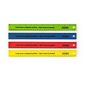 re:create Shatter-resistant Recycled Rulers, Pack of 100