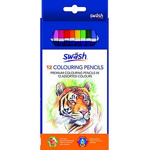 Swäsh Premium Colouring Pencils, Pack of 12
