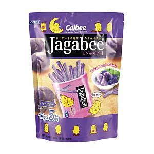 Calbee 卡樂B Jagabee 紫薯薯條18克 - 5包裝