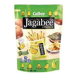 Calbee 卡樂B Jagabee紫菜味薯條18克 - 5包裝