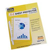 Suremark 11-Hole A4 Protector Sheet Clear 0.06mm - Pack of 100