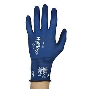Gants Ansell Hyflex 11-818, revêtement mousse nitrile, taille 6, les 12 paires