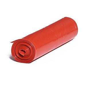 Pytle na odpad,120l, 80 µm, červené, 15 ks