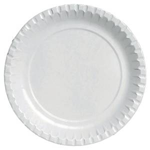 Paper plates BioPak, coated, Ø 18 cm, pack of 100