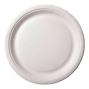 Piatti piani cartonati Duni BioPak ø 18 cm bianco - conf 100
