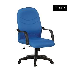Artrich BL2001MB Fabric Medium Back Chair Black