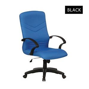Artrich BL2101MB Fabric Medium Back Chair Black