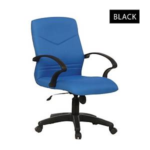 Artrich BL2102LB Fabric Low Back Chair Black