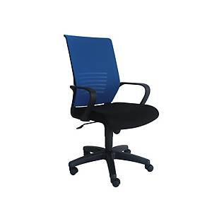 Artrich Art-911MB Mesh Medium Back Chair Blue