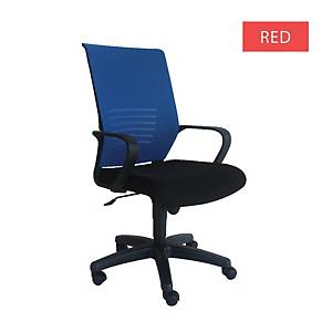 Artrich Art-911MB Mesh Medium Back Chair Red