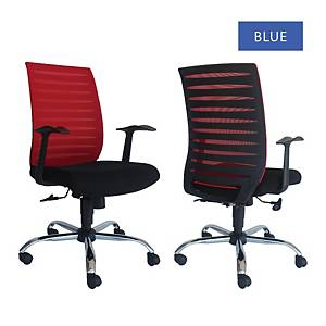 Artrich Art-904MB Mesh Medium Back Chair Blue