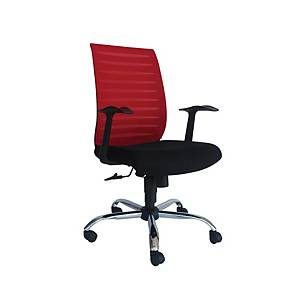 Artrich Art-904MB Mesh Medium Back Chair Red