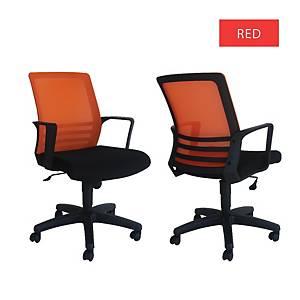 Artrich Art-917MB Mesh Medium Back Chair Red