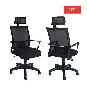 Artrich Art-840HB Mesh High Back Chair Red