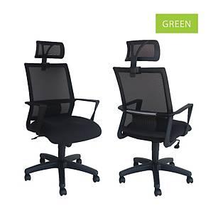 Artrich Art-840HB Mesh High Back Chair Green