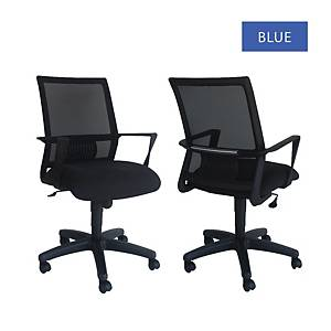 Artrich Art-940MB Mesh Medium Back Chair Blue