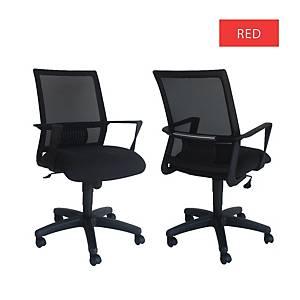 Artrich Art-940MB Mesh Medium Back Chair Red