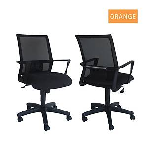Artrich Art-940MB Mesh Medium Back Chair Orange