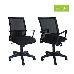 Artrich Art-940MB Mesh Medium Back Chair Green