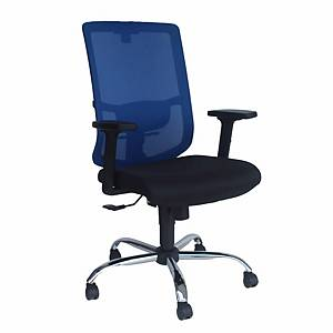 Artrich Art-938MB Mesh Medium Back Chair Blue