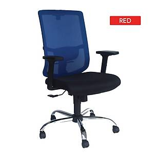 Artrich Art-938MB Mesh Medium Back Chair Red