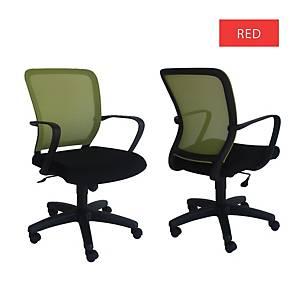 Artrich Art-916MB Mesh Medium Back Chair Red