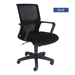 Artrich Art-933MB Mesh Medium Back Chair Blue