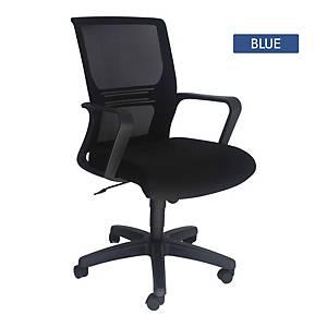 Artrich Art-933MB Mesh Medium Back Chair Blue